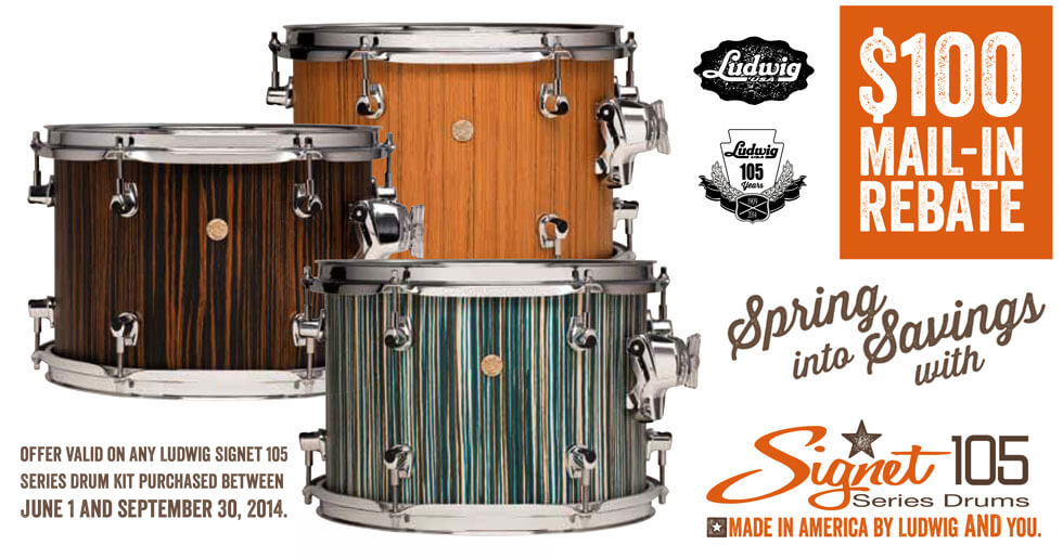 Ludwig Signet 105 Series Shell Packs $100 Rebate
