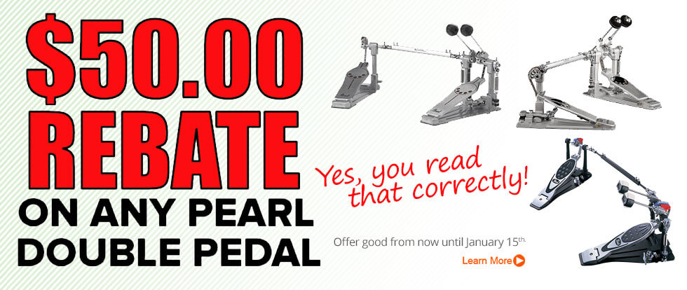 Pearl $50 Double Pedal Rebate
