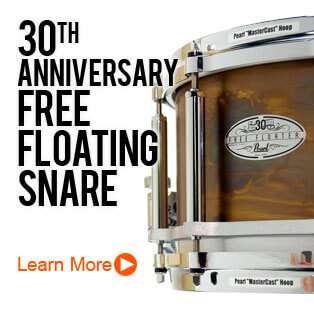 Pearl 30th Anniversary Free Floating Snare Drum