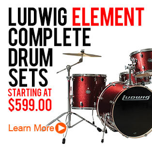 Ludwig Element Complete Drum Set Package