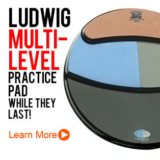 Ludwig LP4DVD Multi Level Practice Pad