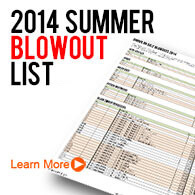2014 Summer Blowout List!