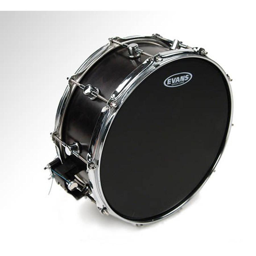 evans 14 hydraulic black coated snare drum heads drum heads drums on sale. Black Bedroom Furniture Sets. Home Design Ideas