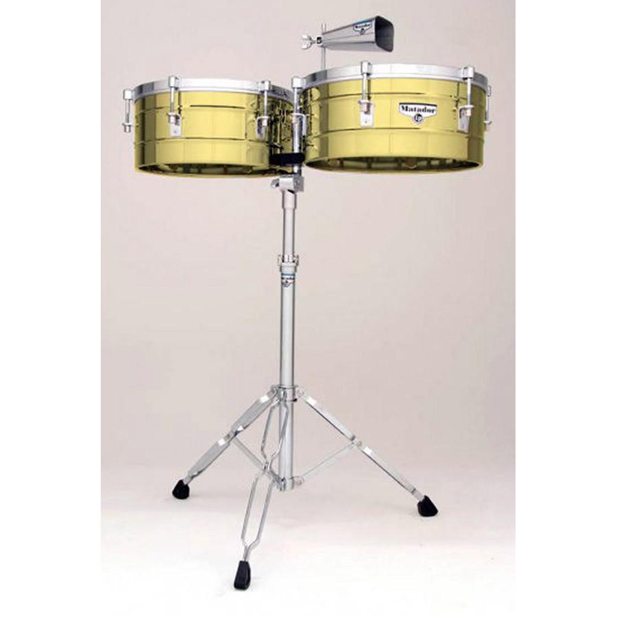 lp matador timbales 14 15 brass m257b drums on sale. Black Bedroom Furniture Sets. Home Design Ideas