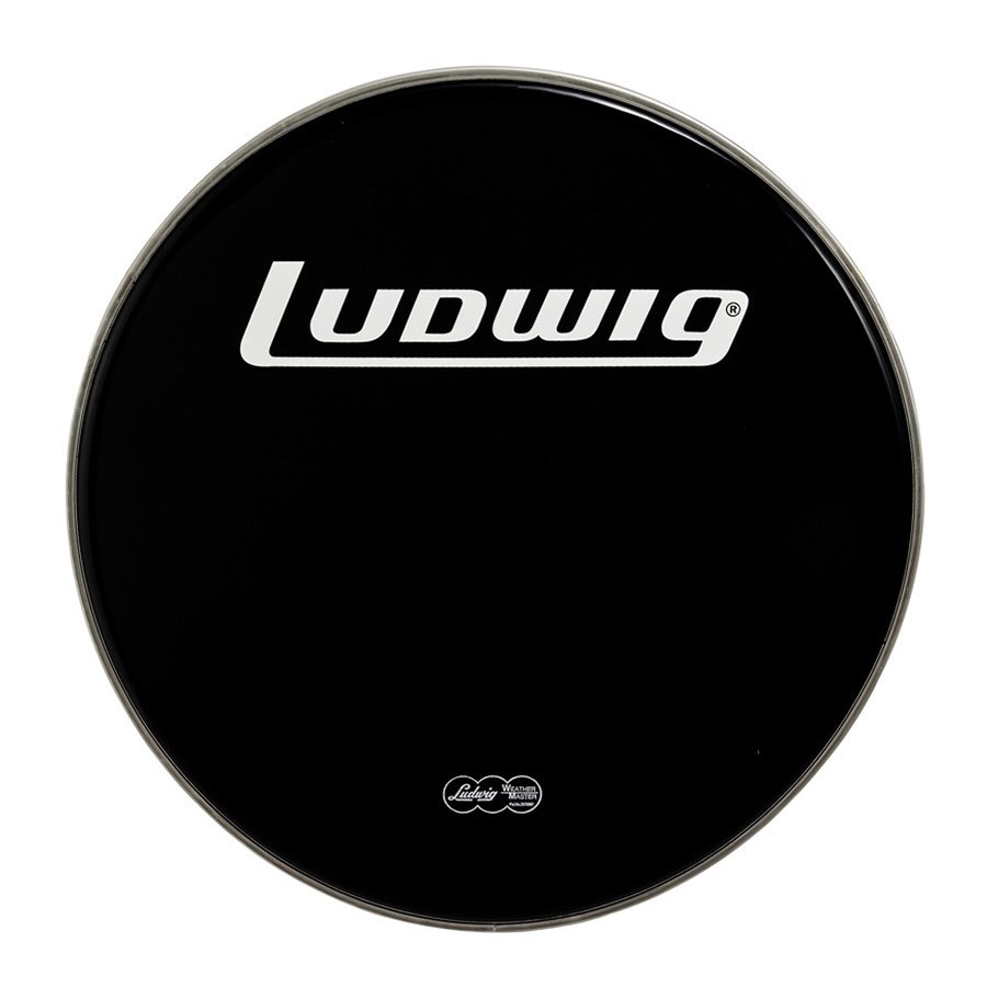 ludwig 22 bass drum head heavy black drums on sale. Black Bedroom Furniture Sets. Home Design Ideas