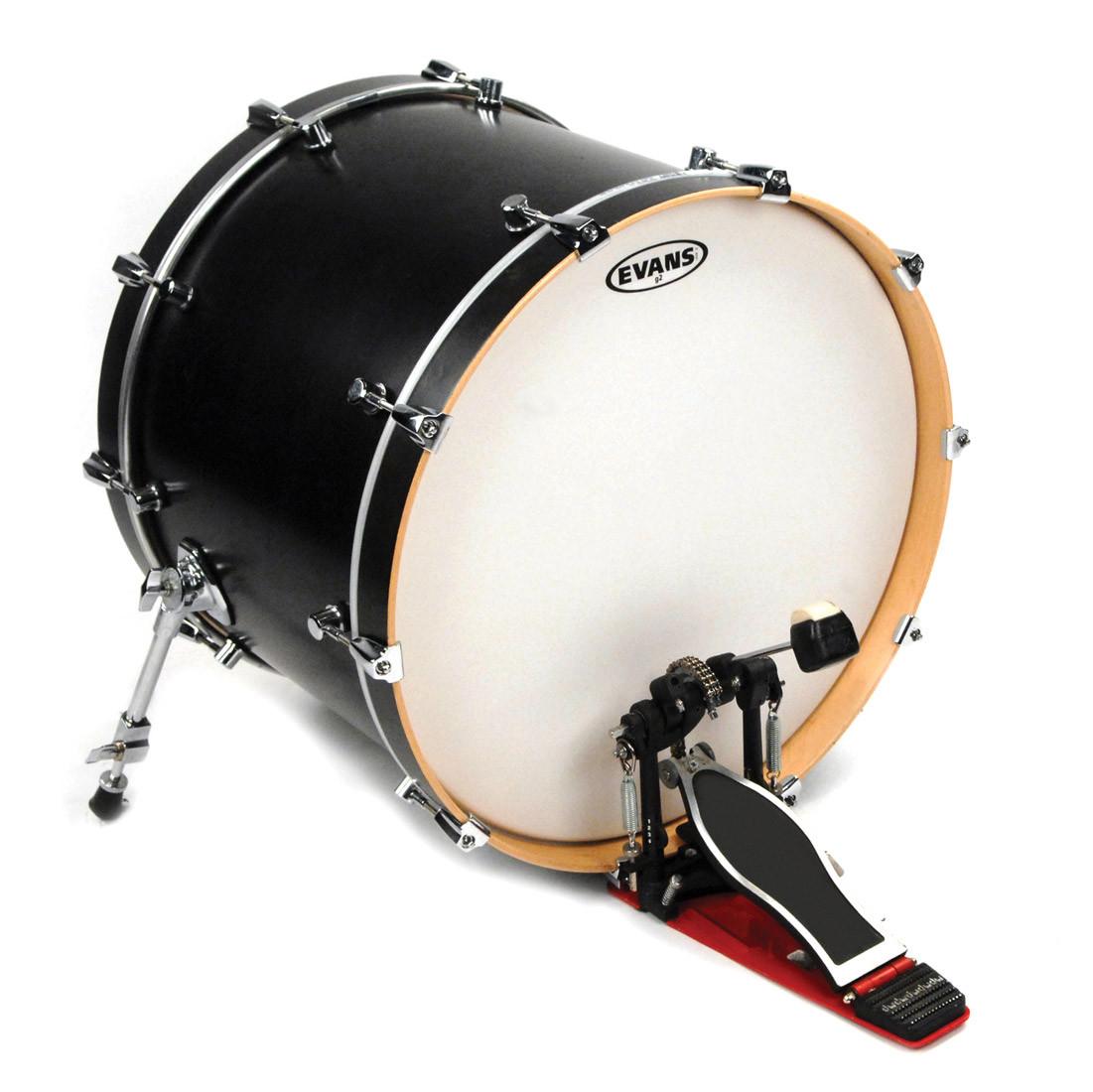 evans 20 g2 coated white bass drum head drums on sale. Black Bedroom Furniture Sets. Home Design Ideas