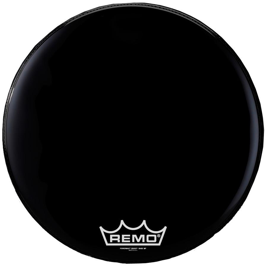 remo powermax bass drum head crimplock black suede 26 inch drums on sale. Black Bedroom Furniture Sets. Home Design Ideas