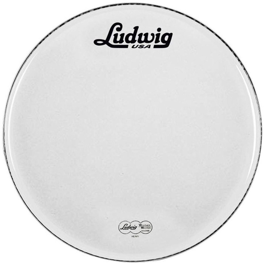 ludwig 22 bass drum head white vintage logo drums on sale