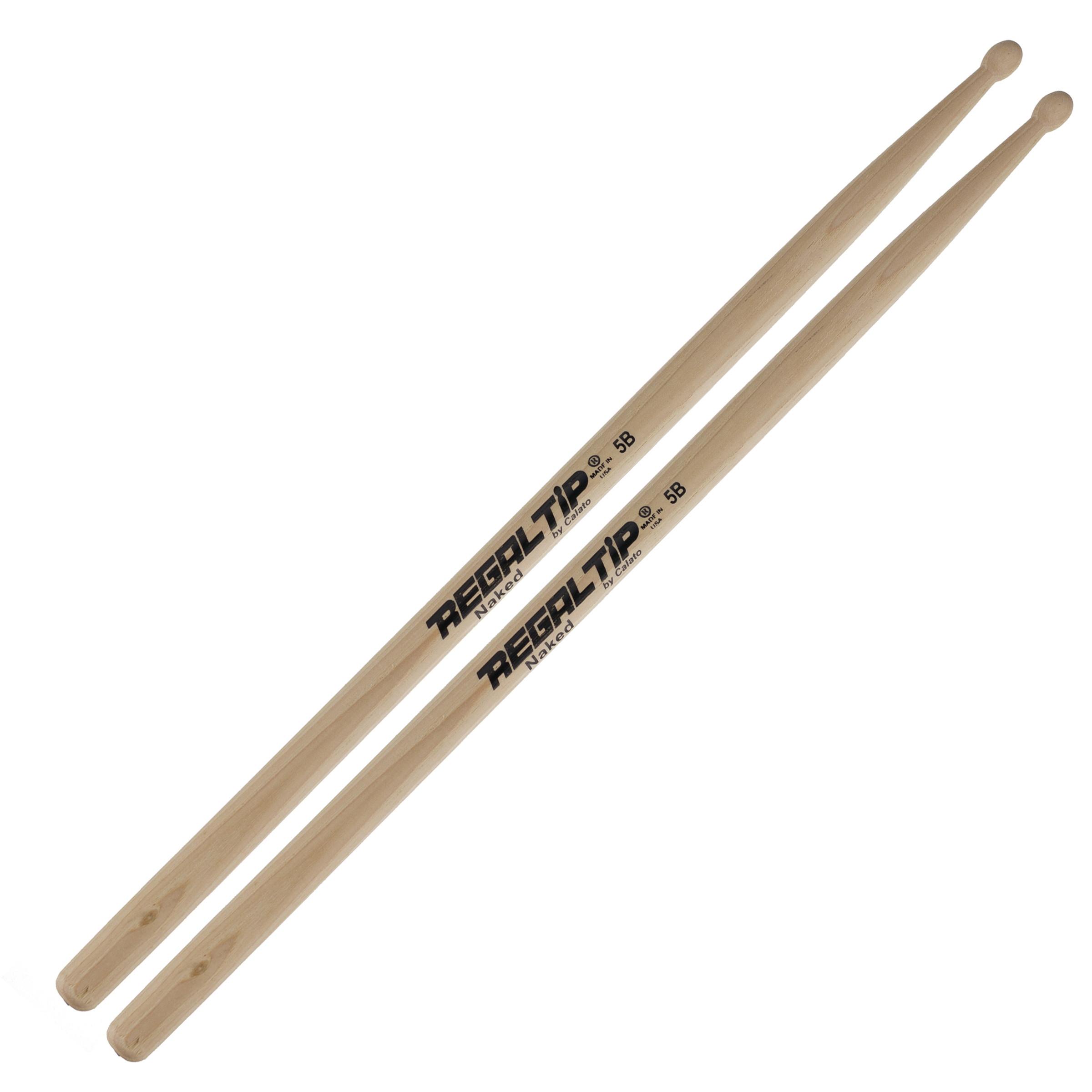 Regal Tip 5B Naked Series Drum Sticks Drums on SALE