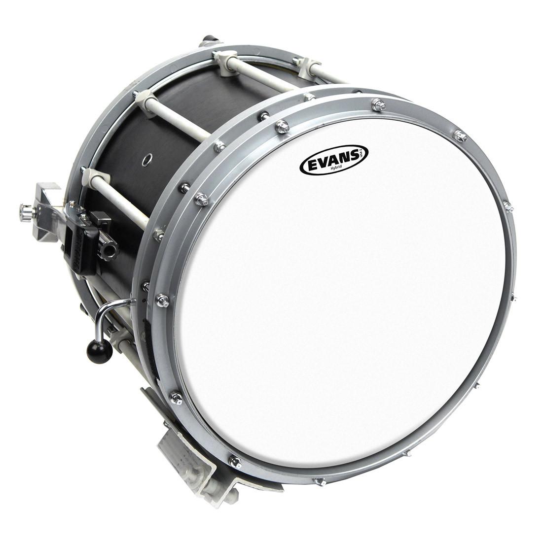 evans 14 hybrid marching snare drum batter head white drums on sale. Black Bedroom Furniture Sets. Home Design Ideas