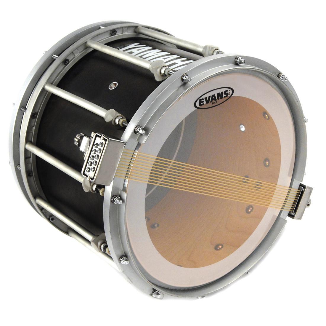 evans 13 ms3 marching drum snare side head clear drums on sale. Black Bedroom Furniture Sets. Home Design Ideas