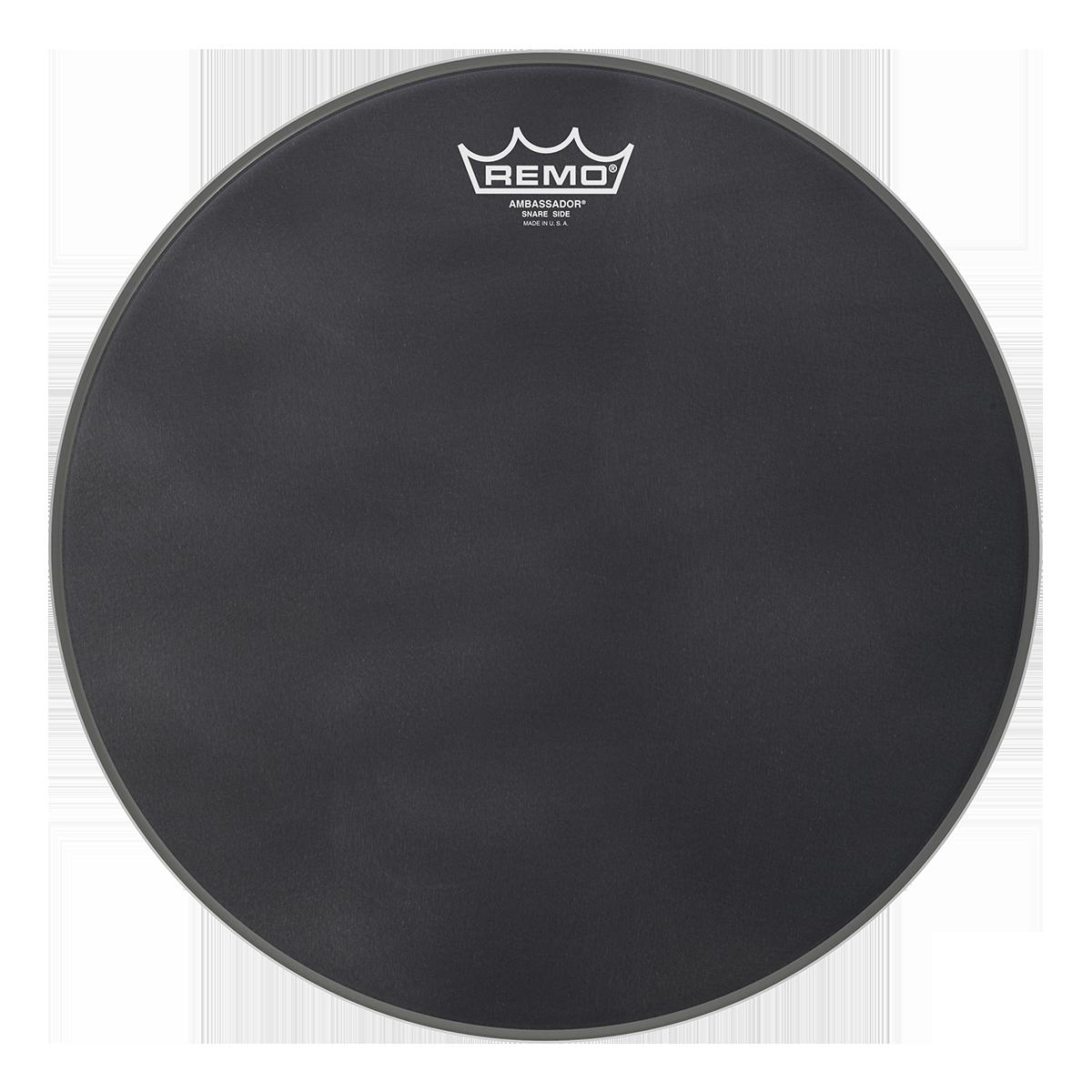 remo ambassador black suede snare side drumheads drums on sale. Black Bedroom Furniture Sets. Home Design Ideas