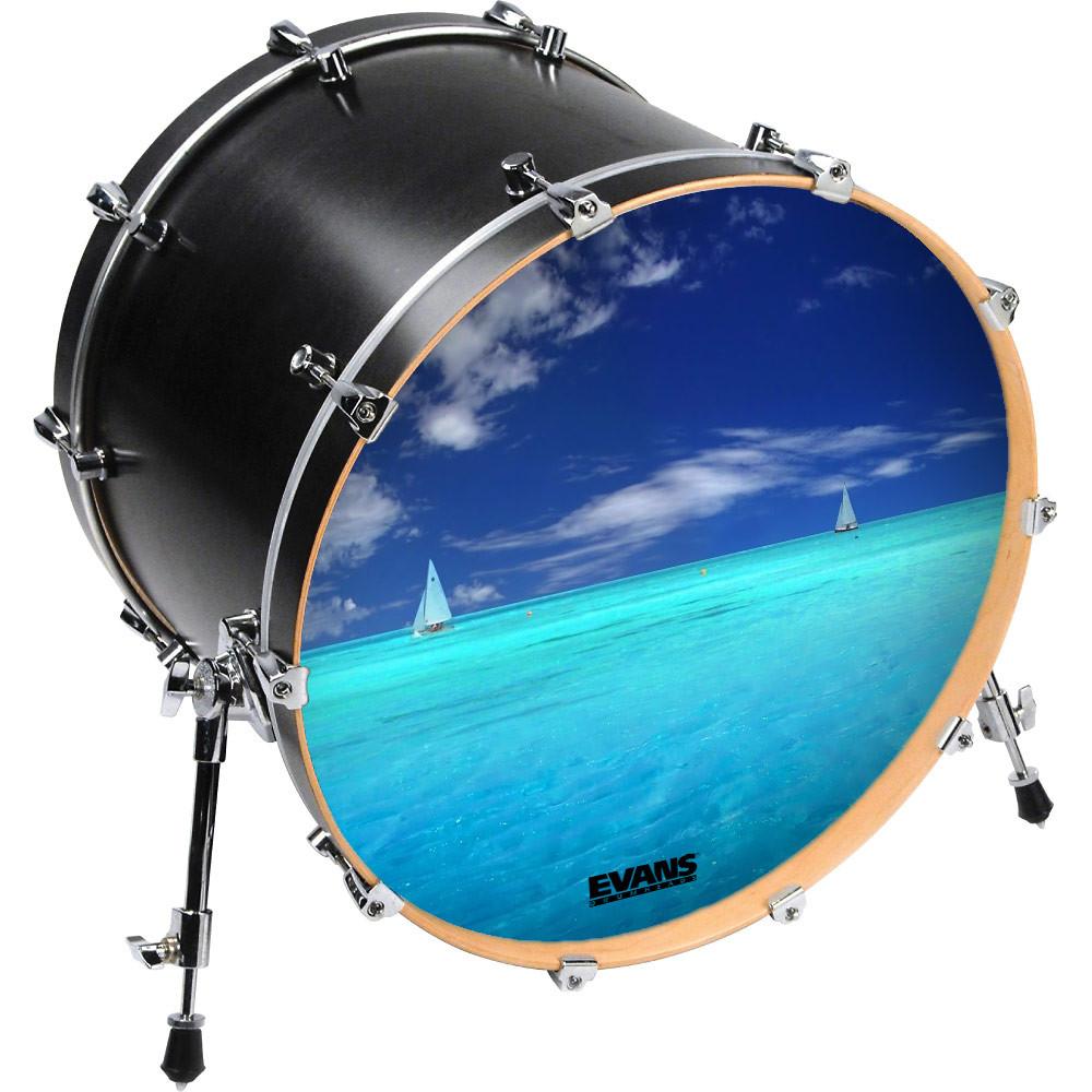 inked by evans custom printed bass drum heads drums on sale. Black Bedroom Furniture Sets. Home Design Ideas