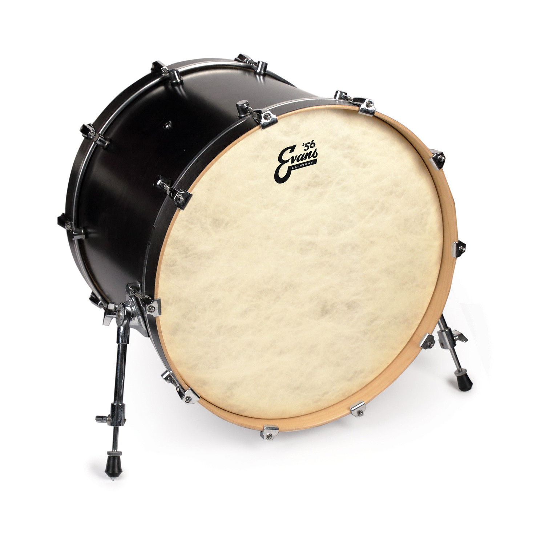 evans 18 calftone bass drum head drums on sale. Black Bedroom Furniture Sets. Home Design Ideas