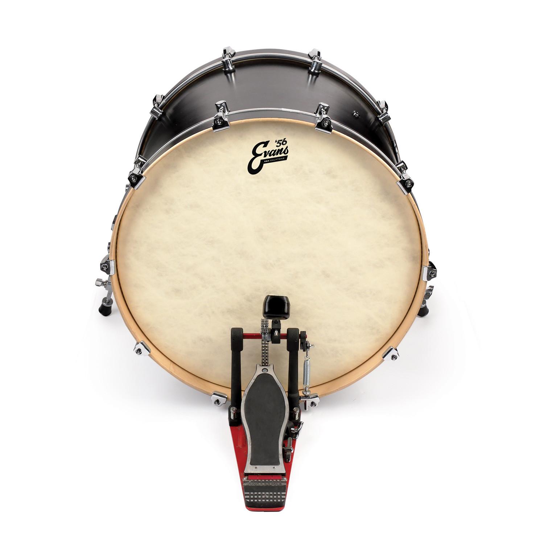evans 24 eq4 calftone bass drum head drums on sale. Black Bedroom Furniture Sets. Home Design Ideas