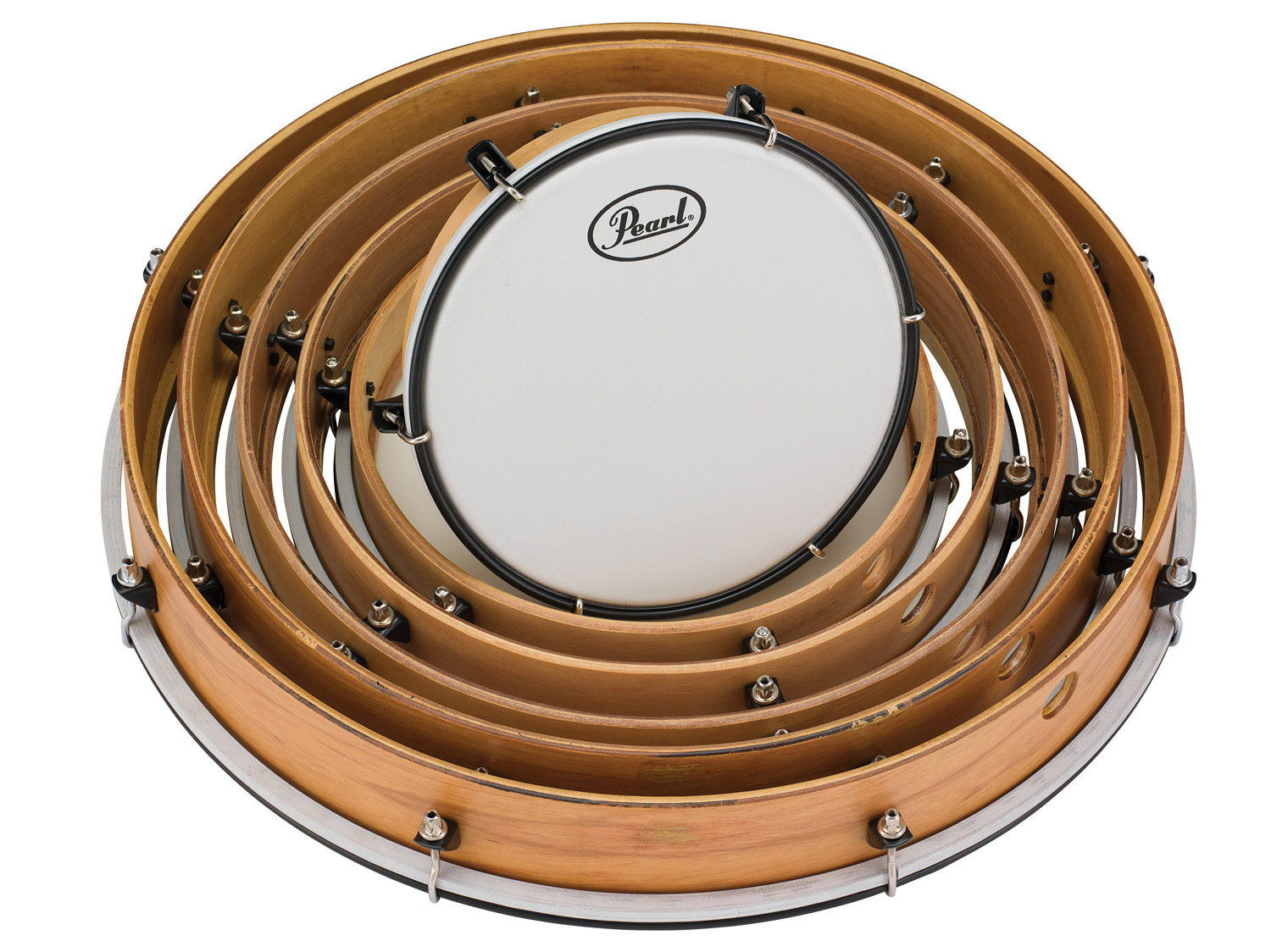 pearl tunable frame drum pack includes 8 10 12 14 16 18 drums w smooth heads drums on sale. Black Bedroom Furniture Sets. Home Design Ideas