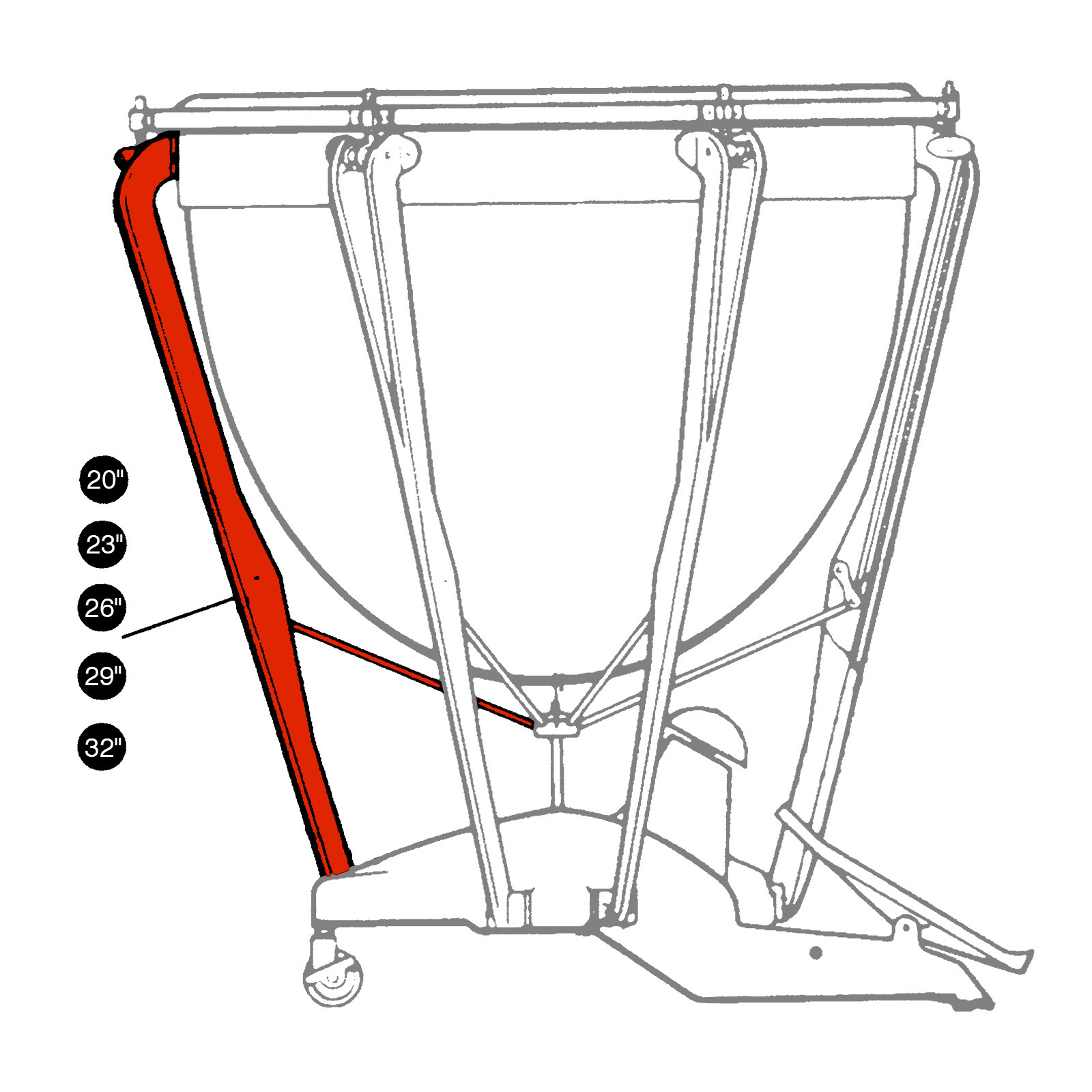 ludwig 20 u0026quot  strut assembly for grand symphonic timpani labeled diagram timpani labeled diagram timpani labeled diagram timpani labeled diagram