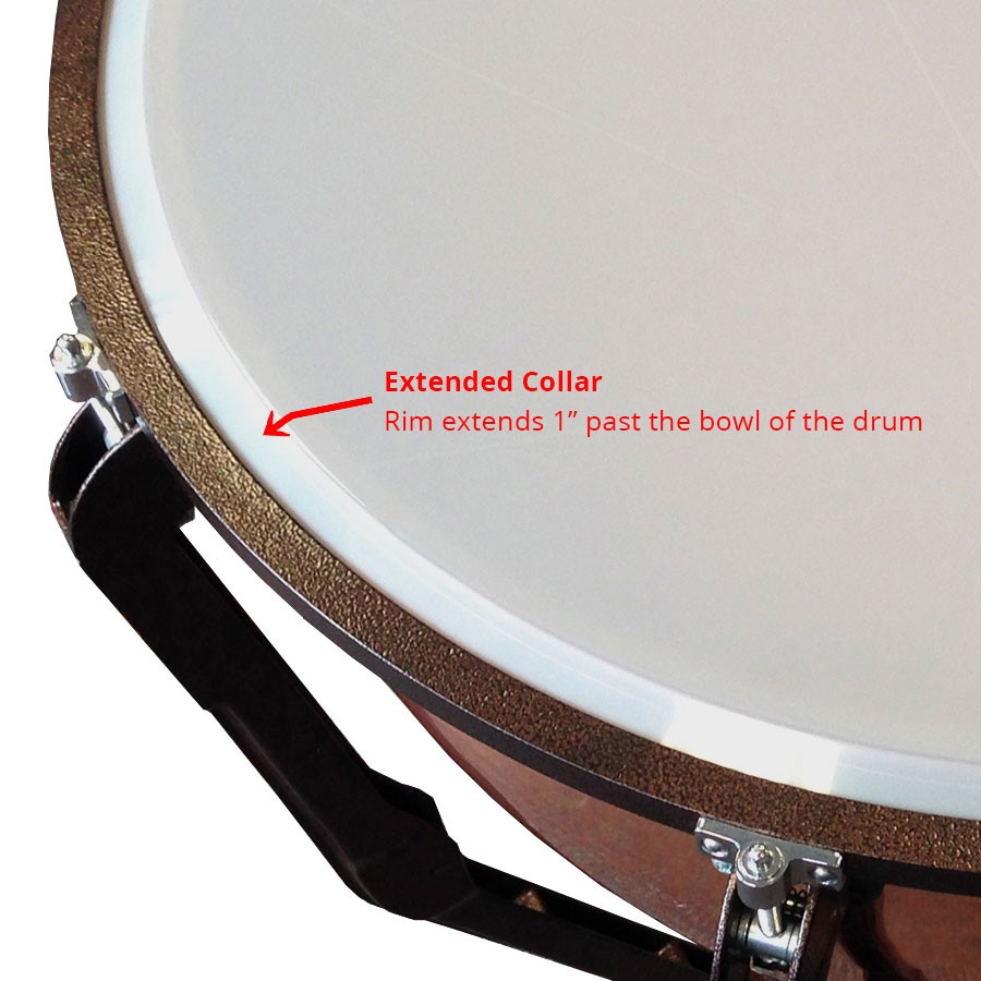 ludwig ensemble clear timpani head extended collar drums on sale. Black Bedroom Furniture Sets. Home Design Ideas