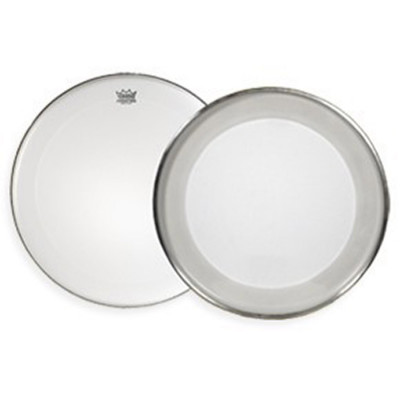 Remo POWERMAX Bass Drum Head - Crimplock - Ultra White 22 inch