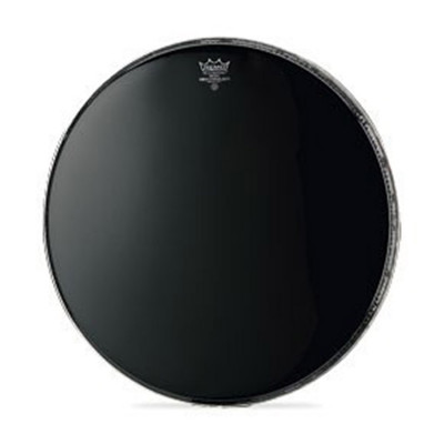 Remo AMBASSADOR Bass Drum Head - Crimplock - EBONY 20 inch