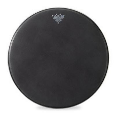 Remo POWERMAX Bass Drum Head - Crimplock - Black Suede 16 inch