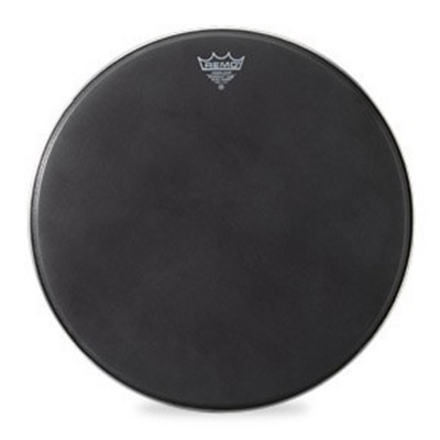 Remo POWERMAX Bass Drum Head - Crimplock - Black Suede 22 inch