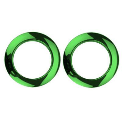 """2"""" Green Chrome Drum O's"""