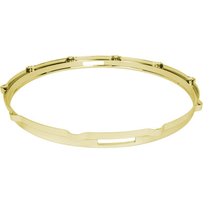 """Ludwig Die Cast 14"""" 10 hole snare hoop - Brass Plated - L1410SB"""