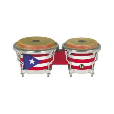 LP Mini Puerto Rican Flag Bongos - LPM199-PR