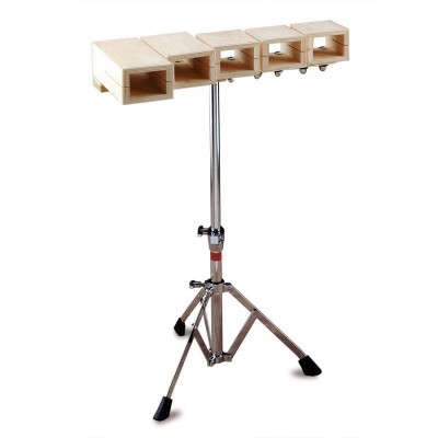 Ludwig 5 Pc Temple Blocks w/ Stand - LE102