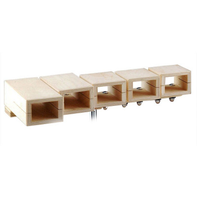 Ludwig 5 Pc Temple Set without Stand - LE82