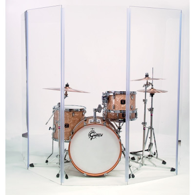 Gibraltar GDS-5 5.5' x 10' 5 Panel Drum Sound Shield