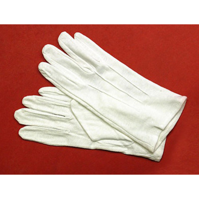 White Cotton Gloves with Beaded Grip
