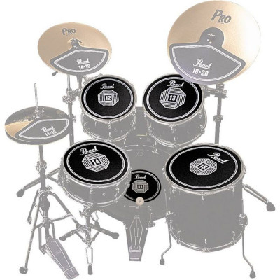 "Pearl Rubber Disk Set for Drum Set (12"",13"",14"",16"",BD)"