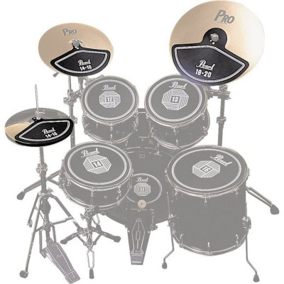 "Pearl Rubber Cymbal Pads Set (14""x2, 18""x2)"