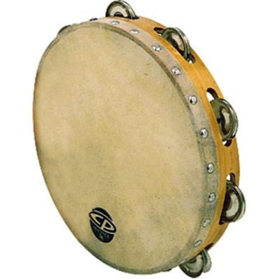 "CP Wood Headed Tambourine Single 10"" CP379"