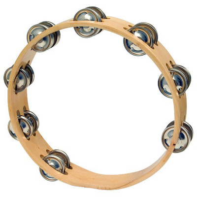 "CP Wood Headless 10"" Double Row Tambourine"