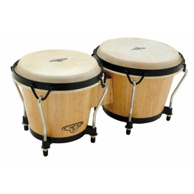 "LP CP Traditional Wood Bongos 6"" & 7"", Natural/Black - CP221-AW"