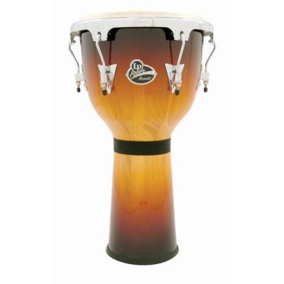 LP Aspire Accents Tunable Bowl Djembe, Vintage Sunburst/Chrome