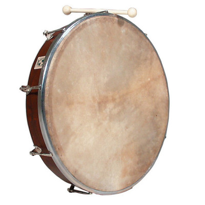 "LP WB Tunable Bodhran 18"" Natural Wood w/ Case - WB239"