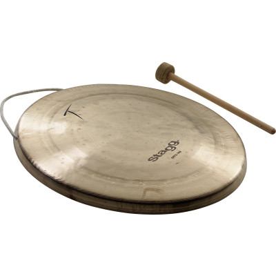 """Stagg 14.2"""" Opera Treble Tiger Gong w/ beater - OBTG-360"""