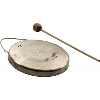 """Stagg 6.5"""" Mini Stilt Gong w/ beater - MSG-165"""