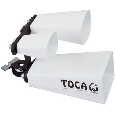 Toca Triple Fusion Bells with Mount, White
