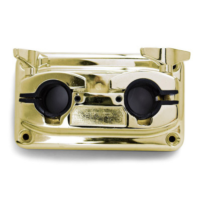 "Bass Drum Double Tom Bracket for 7/8"" Arms - Brass"
