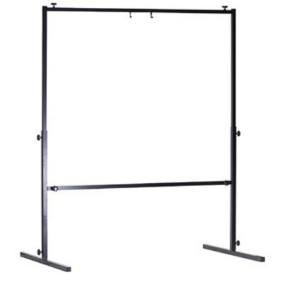 "Wuhan Square Tubular Gong Stand Up To 40"" - Black"