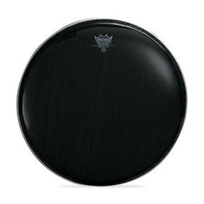 "Remo BLACK MAX Drum Head - Crimped - EBONY - 14"" - Mylar Top+Bottom"