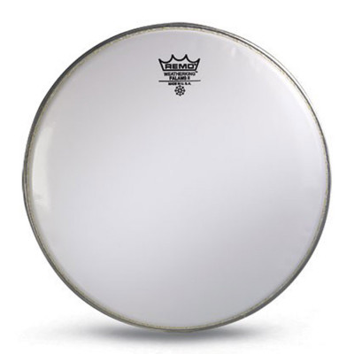 Remo FALAMS II Drum Head - Crimped - SMOOTH WHITE 14 inch