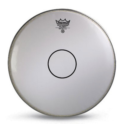 "Remo FALAMS II Drum Head - Crimped - SMOOTH WHITE - 14"" - Clear Dot"