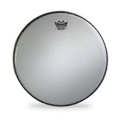 "Remo WHITE MAX Drum Head Crimped Smooth White 14"" Mylar Top+Bottom"