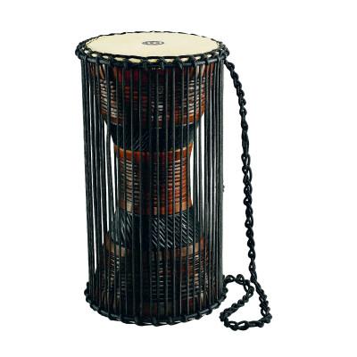 """Meinl African Talking Drum 8"""" x 16"""" Large Brown/ Black"""
